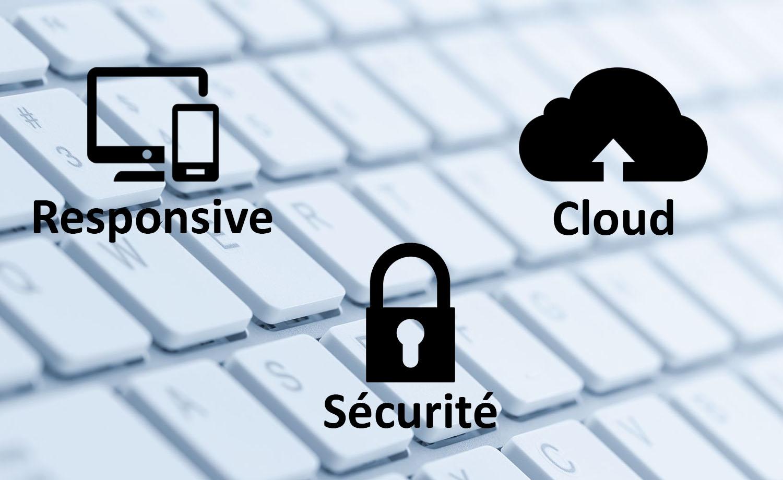 Image représentant responsive, cloud et sécurité